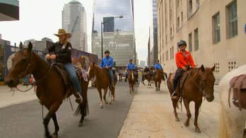 Group rides horses in NYC to raise veteran suicide awareness