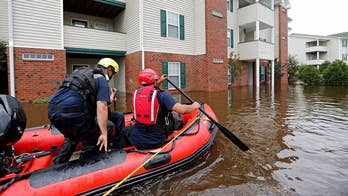 Authorities issue new warnings to evacuate low-lying areas as floodwaters continue to rise; senior correspondent Rick Leventhal reports from Ogden, North Carolina.