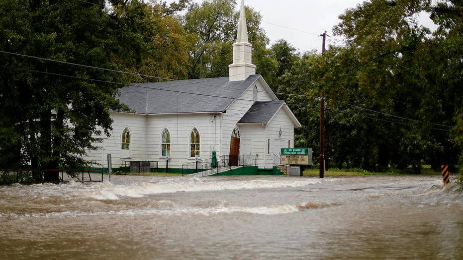 Florence's floodwaters race through Fayetteville, NC