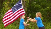Journey that takes the American flag 4,600 miles across the country from 9/11 to 11/11 brings veterans together.