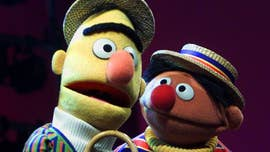 "Although they're puppets, people have speculated for years that ""Sesame Street"" characters Bert and Ernie are more than just roommates and best friends."