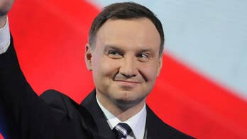 Polish President Andrzej Duda visits the White House amid calls to permanently base U.S. troops in the country to send a strong message to Russia; Lucas Tomlinson reports from the Pentagon.