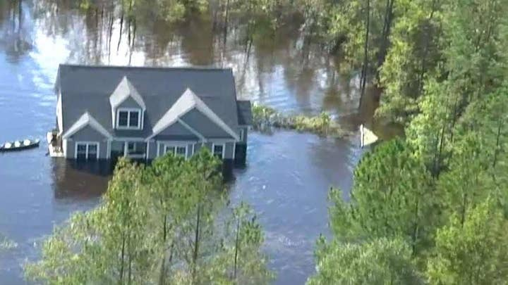 Blackhawk ride along reveals extent of Florence flooding