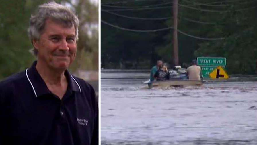 Pollocksville, N.C. Mayor Jay Bender tells Fox News' Griff Jenkins that his small town does not have the resources to address the devastating flooding.
