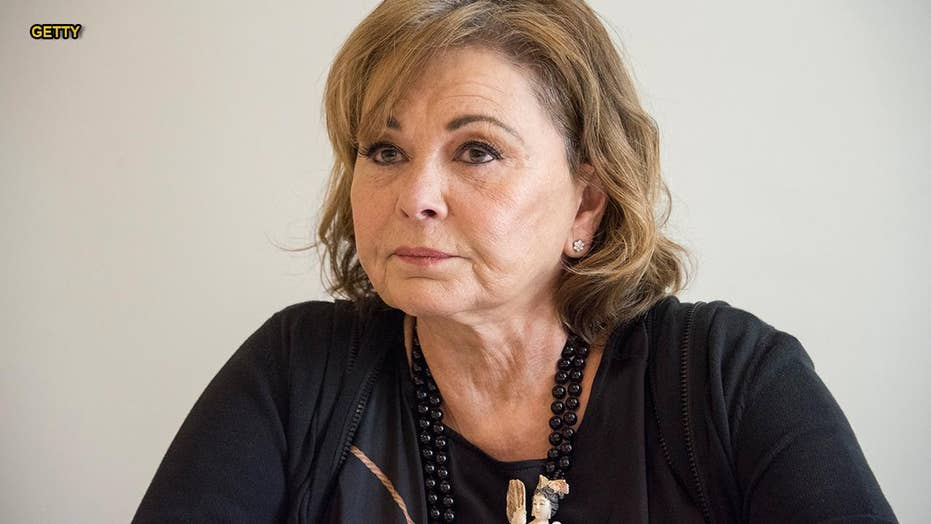 Roseanne Barr the butt of many jokes at the Emmy Awards