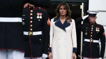 First lady Melania Trump donned a pricey Gucci coat when greeting the Polish first couple at the White House. The $3,980 coat was praised by some on social media while others had some questions about it.