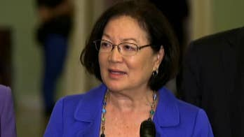 Speaking at a press conference Tuesday evening, Hawaii Democratic Sen. Mazie Hirono urges men to 'do the right thing' amid allegations of misconduct against President Trump's Supreme Court nominee Judge Brett Kavanaugh.