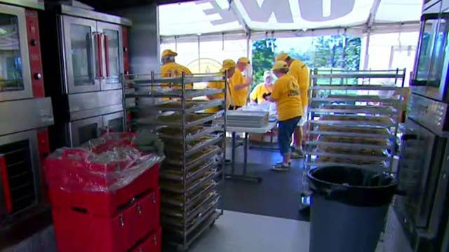 Volunteers lend a helping hand to Florence victims