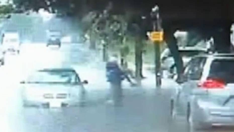 Rescue from Massachusetts floodwater caught on camera