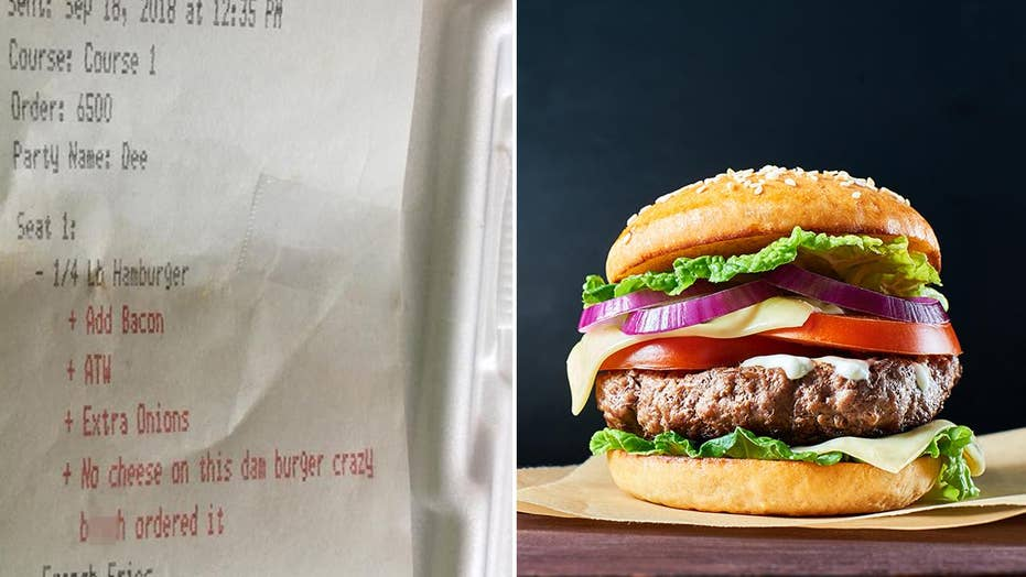 Woman claims restaurant called her 'crazy b----' on receipt