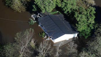 Nichols, South Carolina Mayor Lawson Battle says the town is completely under water and calls the flooding a 'complete setback.'