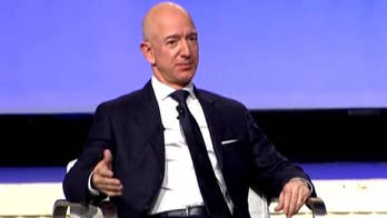 Raw video: Amazon founder, chairman and CEO Jeff Bezos participates in keynote address panel at Air Force Association's Air, Space & Cyber Conference in National Harbor, Maryland.