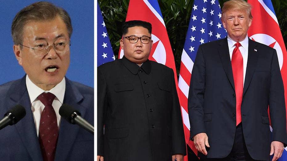 South Korean president says Kim wants Trump meeting soon