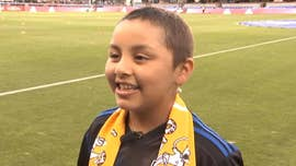 A 10-year-old California girl's dream of making a soccer roster came true on Wednesday when the San Jose Earthquakes made her an honorary team captain.
