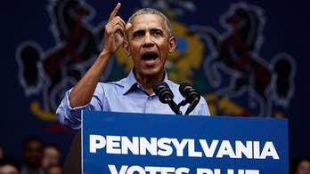 Former President Obama says Republicans in Congress are 'bending over backwards' to protect people from accountability while speaking at Pennsylvania campaign rally.