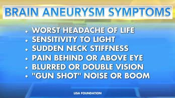 Brain aneurysms: Knowing the warning signs