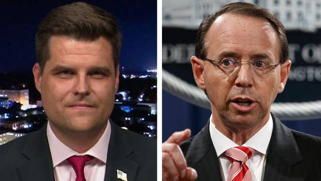 Gaetz: Appropriate for Rosenstein to joke about wiretapping?