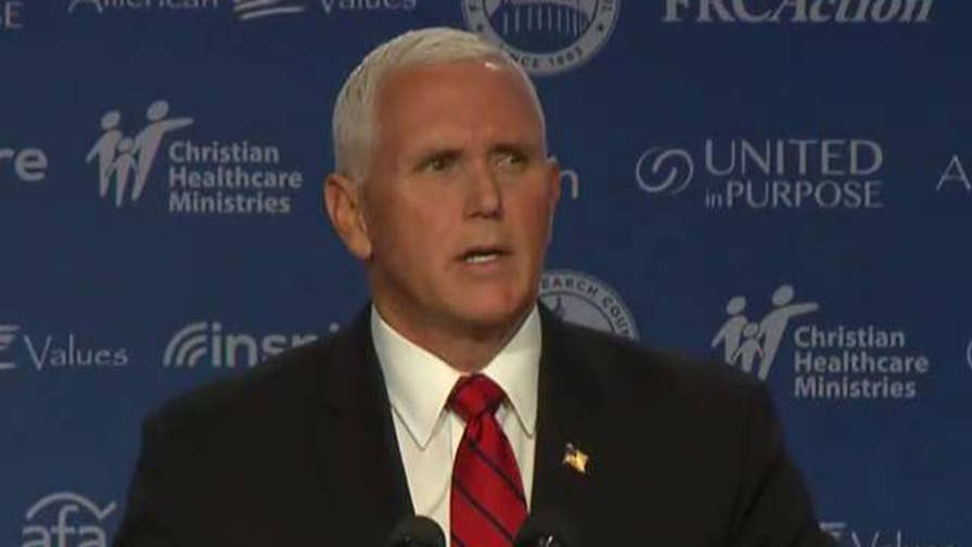 Vice President Pence speaks out in support of Supreme Court nominee Brett Kavanaugh at Values Voter Summit.