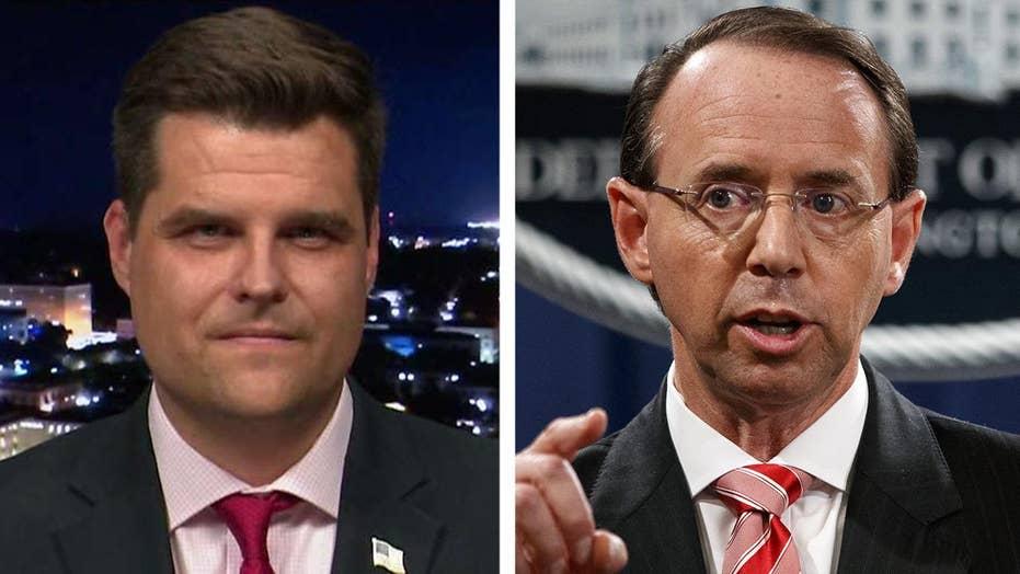 Gaetz: Appropriate for Rosenstein to joke about wiretapping?