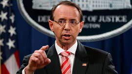 "President Trump appeared to blame Attorney General Jeff Sessions for the latest controversy surrounding Deputy Attorney General Rod Rosenstein Sunday, saying that Sessions had ""hired"" Rosenstein to be his second-in-command."