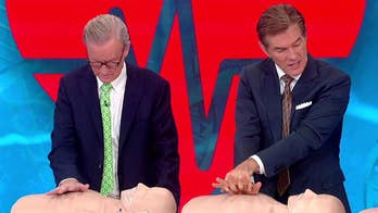 Host of 'The Dr. Oz Show' Dr. Mehmet Oz shows how to perform hands-only CPR.
