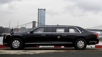President Trump showed up at the U.N General Assembly in a new 'Beast' limousine. Here's a look at some of its rumored security features.