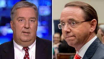 Former DOJ prosecutor James Trusty on questions over Deputy Attorney General Rod Rosenstein's future after New York Times report that he discussed secretly recording President Trump.