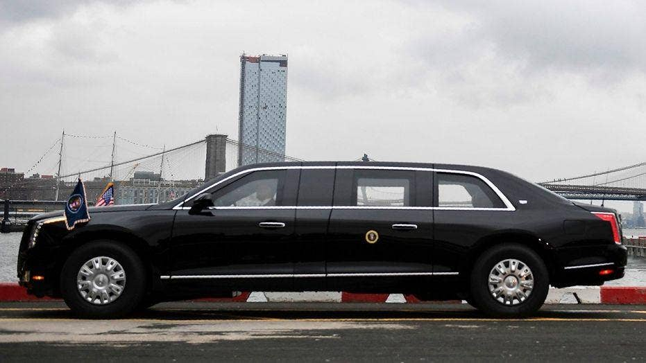 Trump's new 'Beast' limousine spotted roaming New York ...