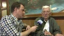 Todd Piro speaks to voters at Bread Basket Restaurant in Barrington, Illinois.