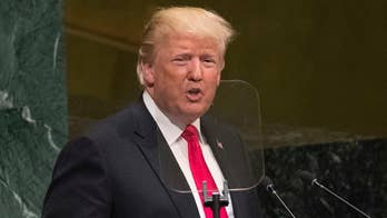 President Trump stresses American sovereignty, says the U.S. won't participate in new global compact on migration, says the Trump administration will examine foreign aid and funding of the United Nations, calls on all nations to make the world better.