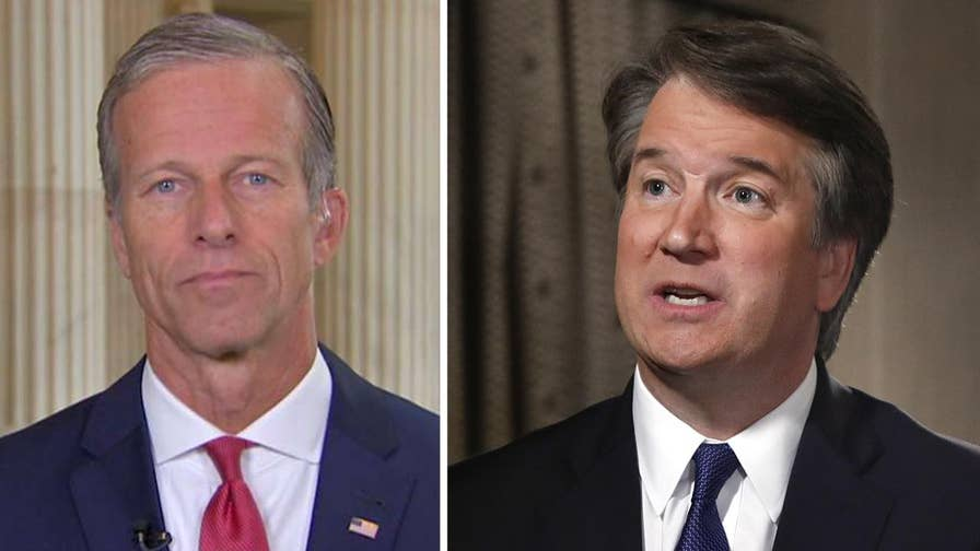 Senate Democrats are not prepared to give Supreme Court nominee Brett Kavanaugh the presumption of innocence, says Sen. John Thune, chair of the Senate Republican Conference.