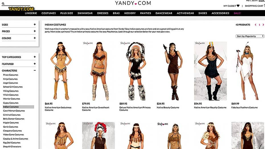 ed2797d7464 Yandy's 'sexy Native American' costume sparks Twitter backlash: 'You ...