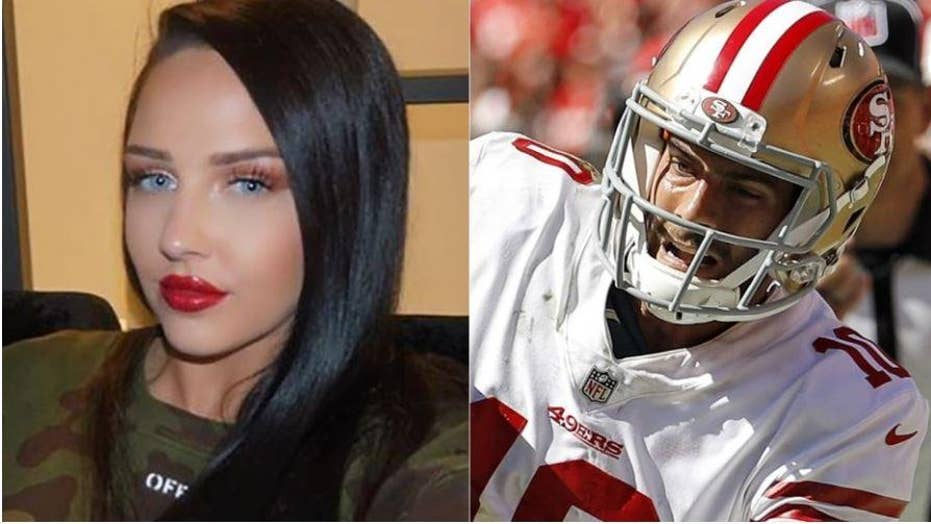 Who is 49ers quarterback dating model
