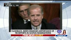 Republicans are seizing on a vintage clip of then-Sen. Joe Biden during the 1991 Clarence Thomas confirmation hearings dismissing the usefulness of having the FBI investigate allegations against the Supreme Court nominee.