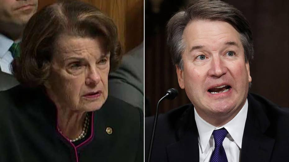 Kavanaugh spars with Feinstein: It's an 'outrage'