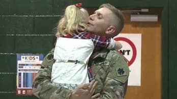 Returning soldier surprises 5-year-old daughter at school