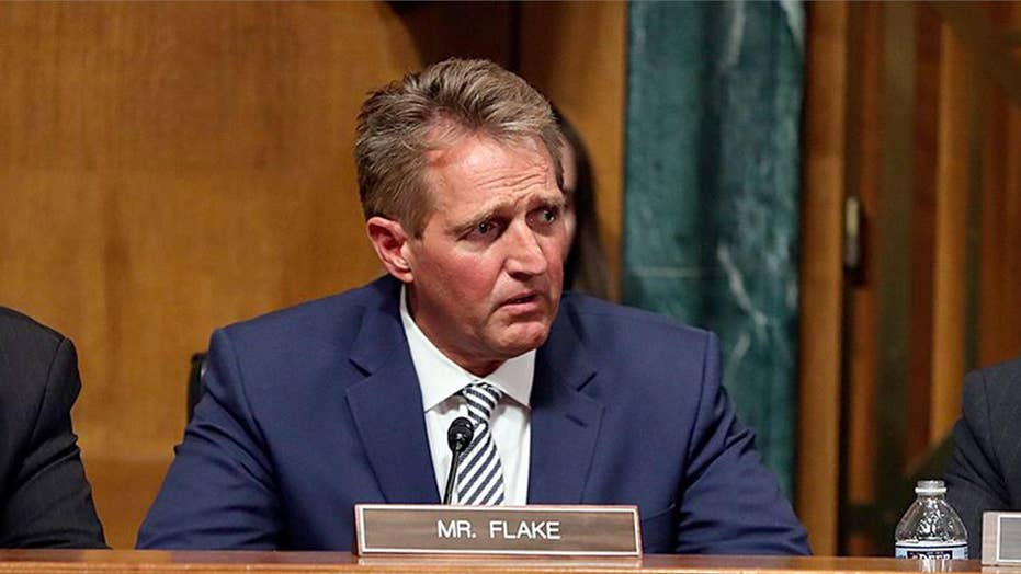 Senator Jeff Flake calls for delay in Kavanaugh confirmation