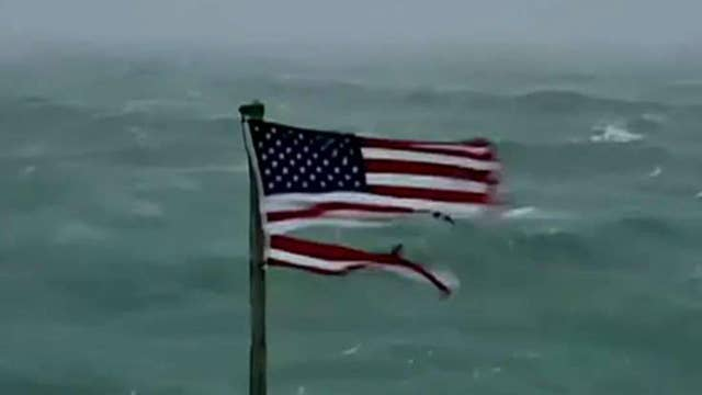 Flag from viral hurricane Florence video up for auction