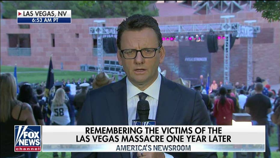 Sunrise ceremony marks one year since Las Vegas shooting