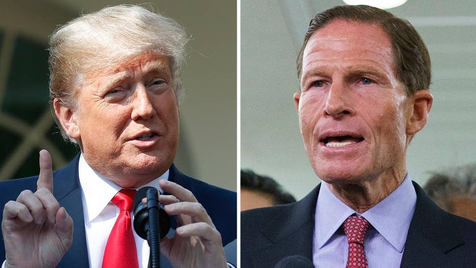Trump calls out Blumenthal's lying past amid Kavanaugh fight