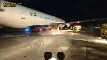 Delta Air Lines flight catches fire during aborted takeoff