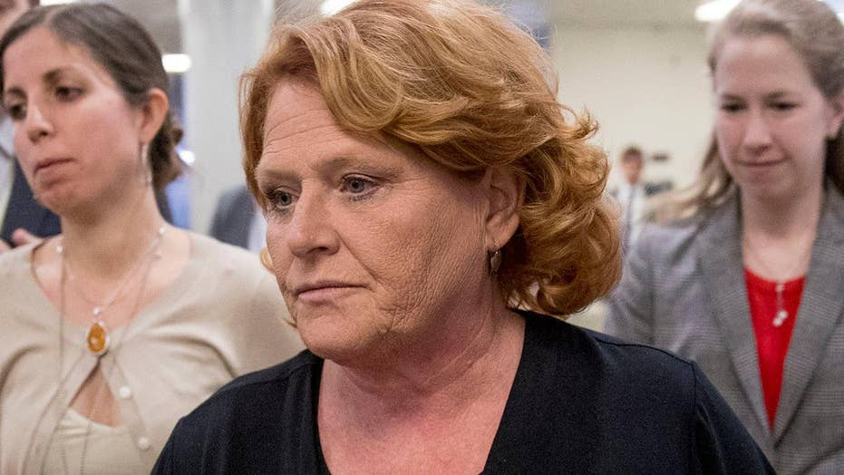Fight over Kavanaugh could impact Heitkamp's re-election bid