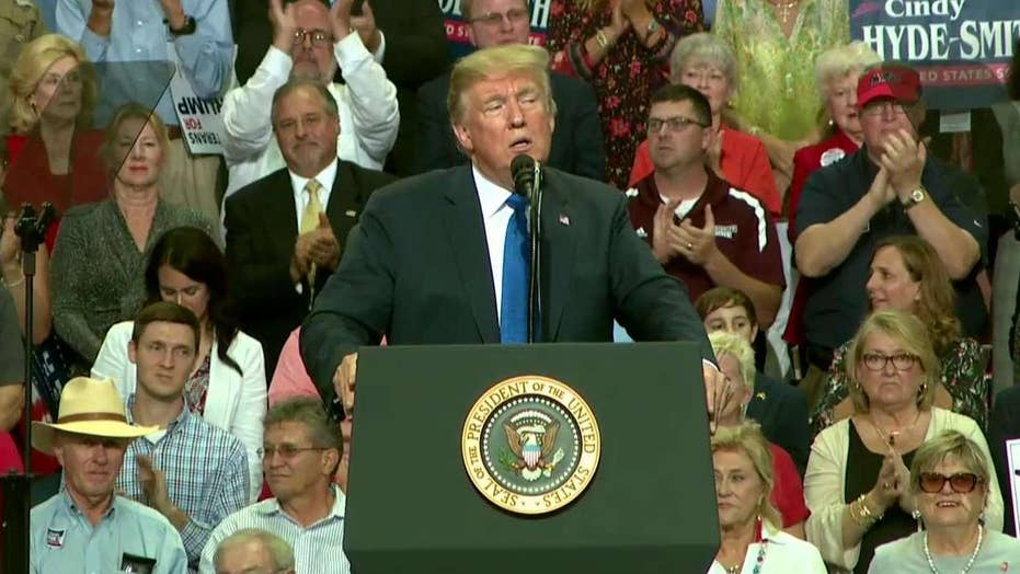 Trump slams Democrats as power-hungry obstructionists