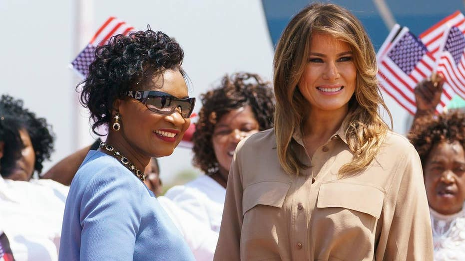 First lady continues her 'Be Best' campaign on Africa tour