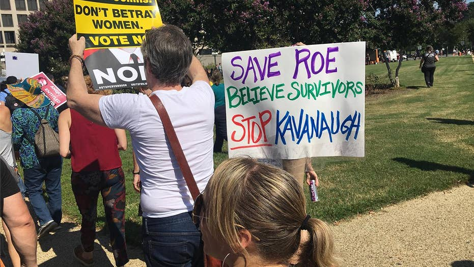 Thousands of anti-Brett Kavanaugh protesters rally in Washington
