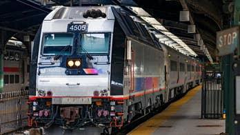 New Jersey train passenger caught on camera sanding his feet