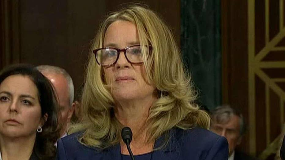 How did reporters get Dr. Christine Ford's story?