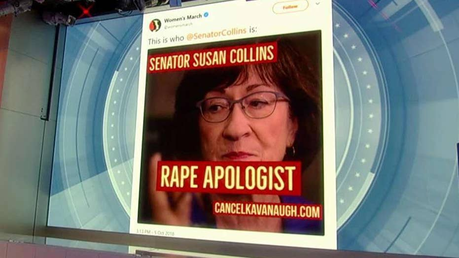 Women's March calls Sen. Collins a 'rape apologist'