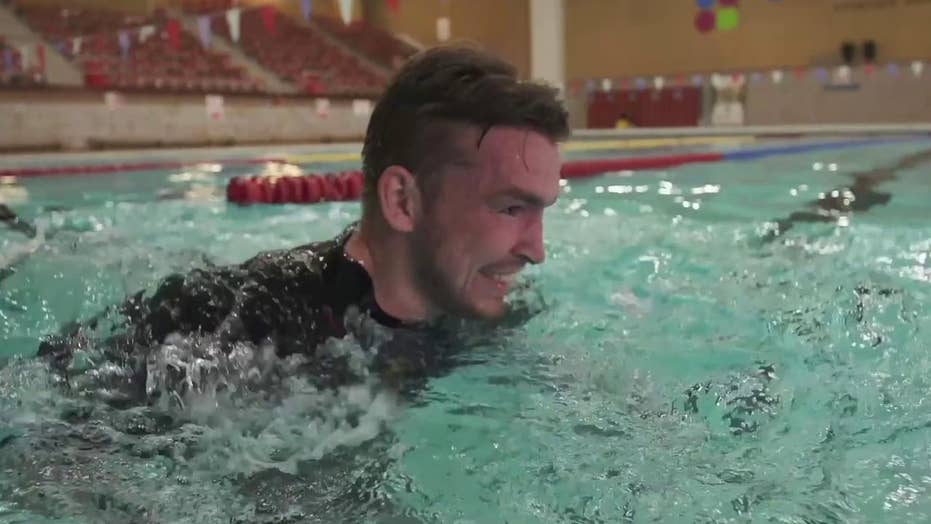 Veteran rehabilitation through 'Aqua Running' suit