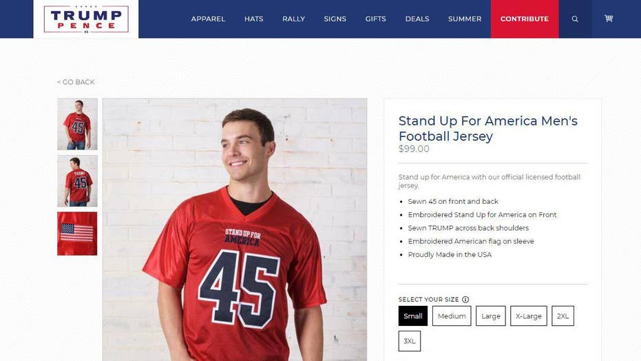 pretty nice 39bd7 c3a02 Trump site's 'Stand Up for America' jerseys see 'brisk ...